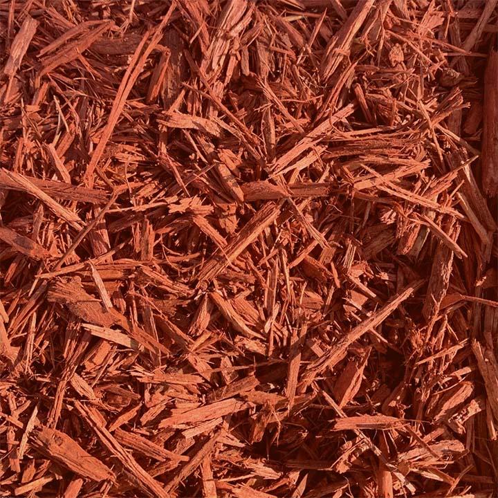 Brick Red Shredded Mulch